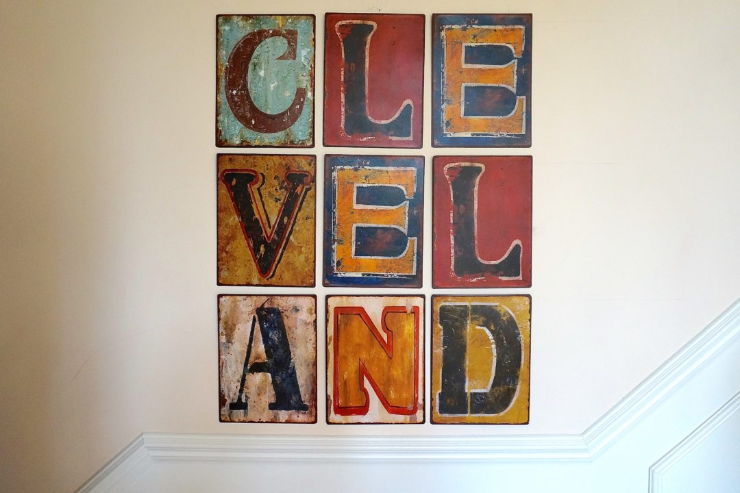 Metal Letter Wall Art - Cleveland