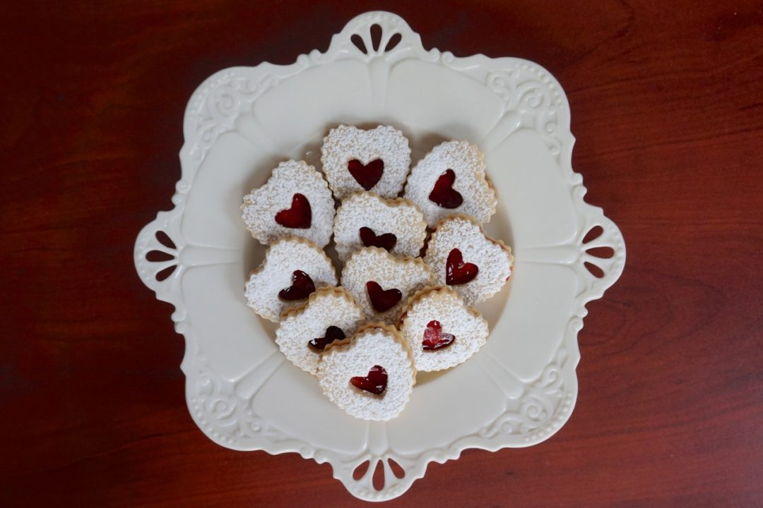 Heart Shaped Linzer Cookies